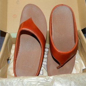 Fitflop Ringer Toe Post Sandal, Size 9. NEW! CUTE!